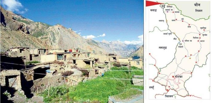 A map of Gorkha district of Nepal adjoining Tibet (Photo- News 24)