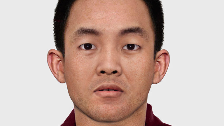 A reconstructed image of how the Panchen Lama might look at the age of 30. Credit- International Tibet Network