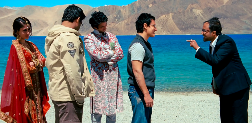 Bollywood hit 3 Idoits is famed for its location shoot at Pangong lake in Ladakh (bollywink)