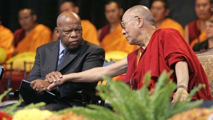 Congressman John Lewis and His Holiness the Dalai Lama in the US (OHHDL)