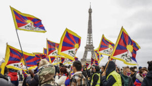 Tibetans, Uighurs, Taiwanese, Vietnamese, Mongolians, Hong Kongers and supporters gathered near the iconic Eiffel Tower in Paris, France to protest against the brutality and the human rights violations in their native countries by the Chinese government on Sunday (Septemeber 27, 2020) Phayul Photo by Norbu Wangyal T.