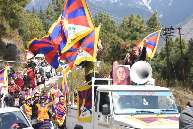Tibetans and supporters in Dharamshala came in numbers despite the COVID-19 scare for the 61st March 10- Tibetan Uprising Day commemorations. Photo: Phayul/Kunsang Gashon