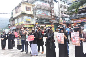 5 Tibetan NGOs based in Dharamsala undertake 'silent protest' and launched a petition along with a report to be submitted to foreign dignitaries and 160 embassies in Delhi urging stronger support to Tibetan cause and highlight worsening human rights situation inside Tibet. July 17, 2020 (Friday) Phayul Photo by Kunsang Gashon