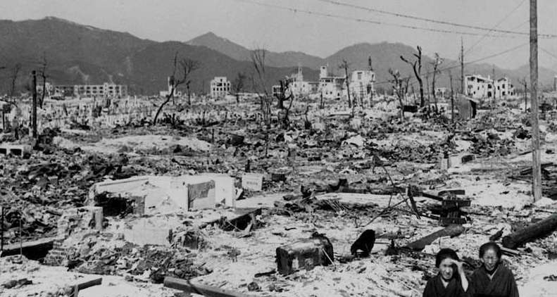 Death and destruction in the aftermath of the atom bomb that levelled two cities in Japan (Image courtesy US Dept of Energy)