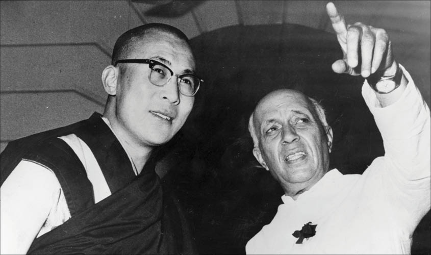 His Holiness the Dalai Lama and former Prime Minister of India Jawahar Lal Nehru (file photo)