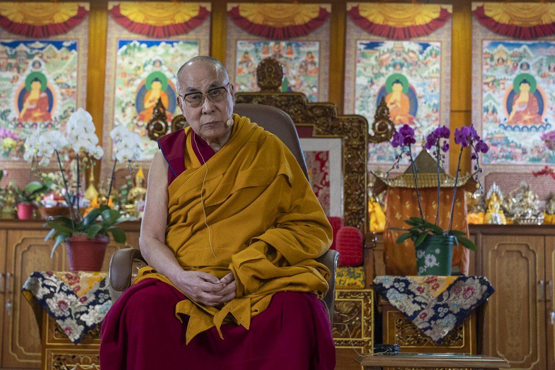His Holiness the Dalai Lams at Bodh Gaya, Bihar on January 11, 2019. Photo- OHHDL