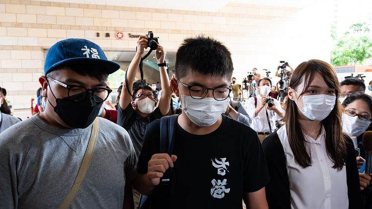 Hong Kong activists Ivan Lam Long-yin (L), Joshua Wong (C) and Agnes Chow (R) sentenced to prison (Photo- Getty Images)