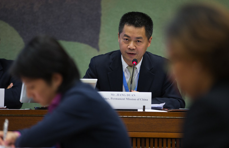 Jiang Duan, Minister at China's mission to the UNHRC in Geneva (UN Watch)