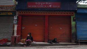 Social distancing. April 21, 2020. Phayul photo-Tenzin Leckphel.