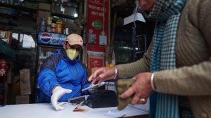Stores taking precaution during the 3-hour daily window. April 21, 2020. Phayul photo-Tenzin Leckphel.