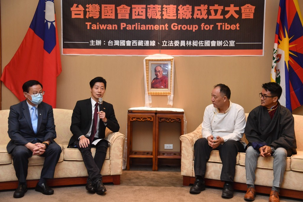 The founding event of the Taiwan Parliament Group for Tibet presided by legislator Freddy Lim on July 8, 2020 (Photo- CNA)