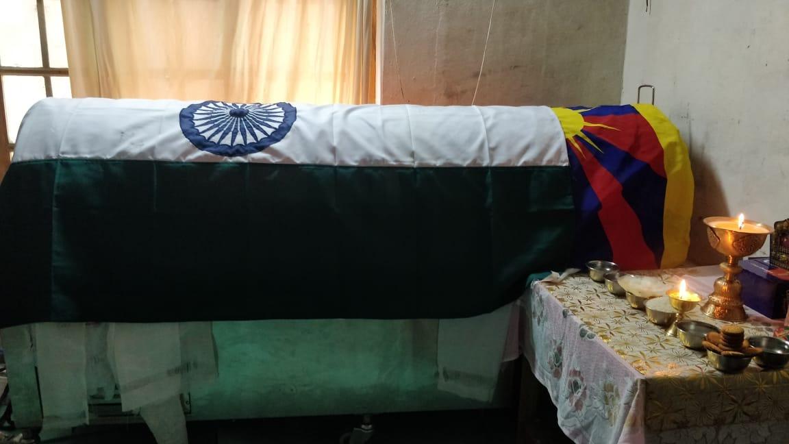 The remains of Company Leader Nyima Tenzin at Sonamling Tibetan settlement in UT of Ladakh (Photo courtesy-Tenzin Tsundue)