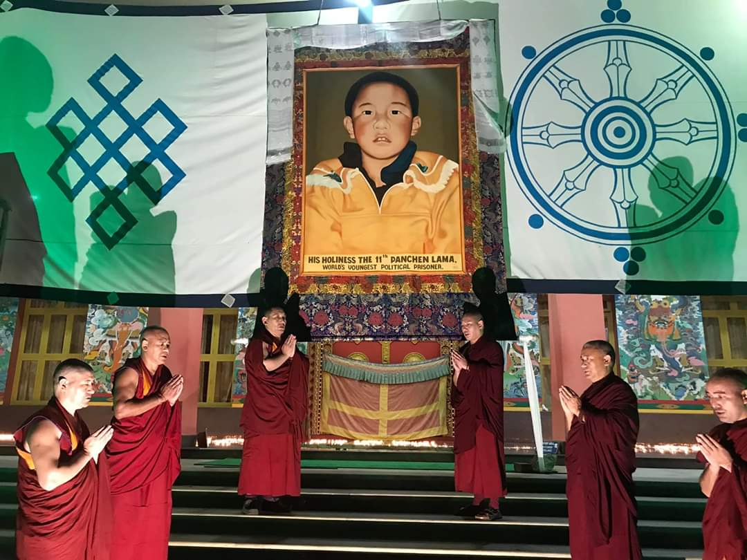 The seat of the Panchen Lama Tashi Lhunpo Monastary in Bylakuppe commemorates the day Photo- TLM