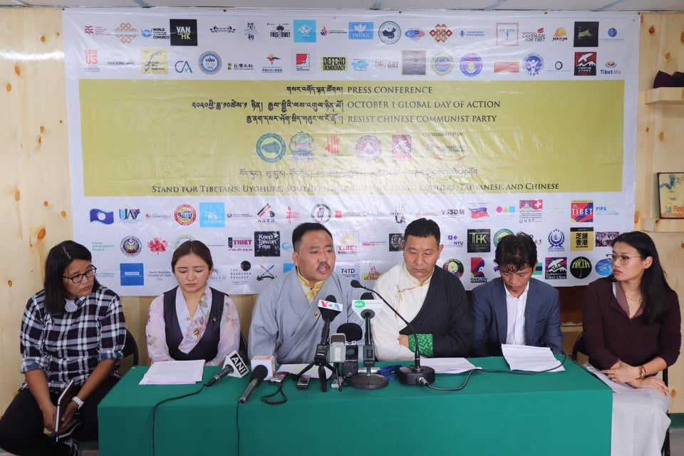 Tibetan NGOs urge IOC to reverse decision to let China host the 2022 Winter Olympics on Wednesday in Dharamshala (Photo- Lobsang Tenchoe)
