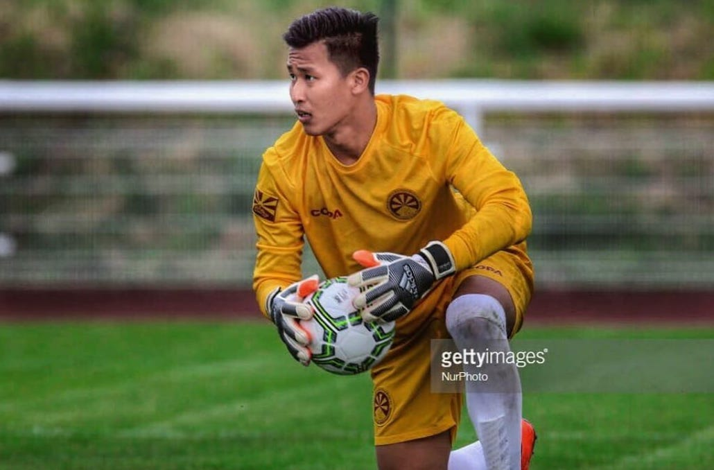 Tibetan National team's No. 1, Tenzin Samdup during the CONIFA World cup 2018 tournament in the UK (Getty Images)