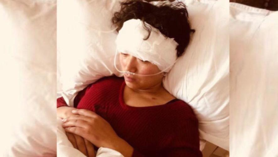 Tsering Tso hospitalised in 2017 (Photo- TCHRD)