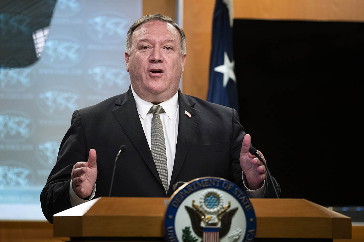 US Secretary of state Mike Pompeo is one of the most vocal critic of China among the ranks of the Trump administration (Politico)