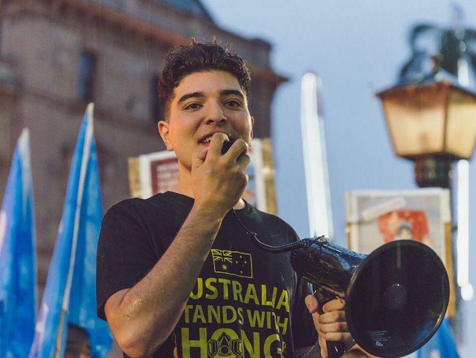 University of Queensland student-leader Drew Pavlou. Photo-Facebook