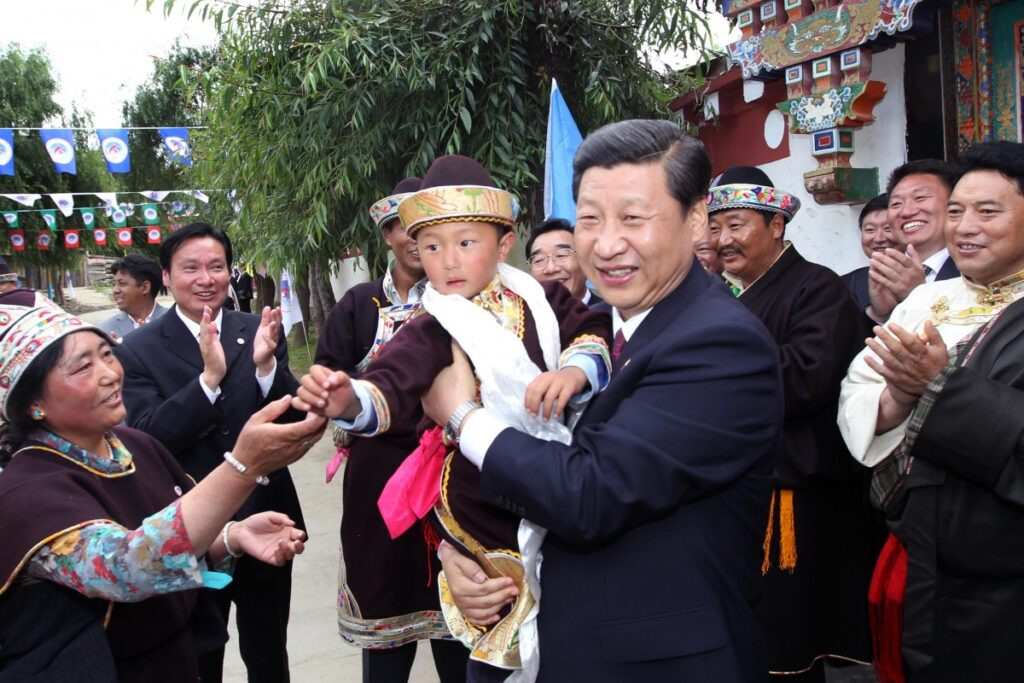 Xi Jinping in Tibet in 2011 before he became the President of China (Xinhua)