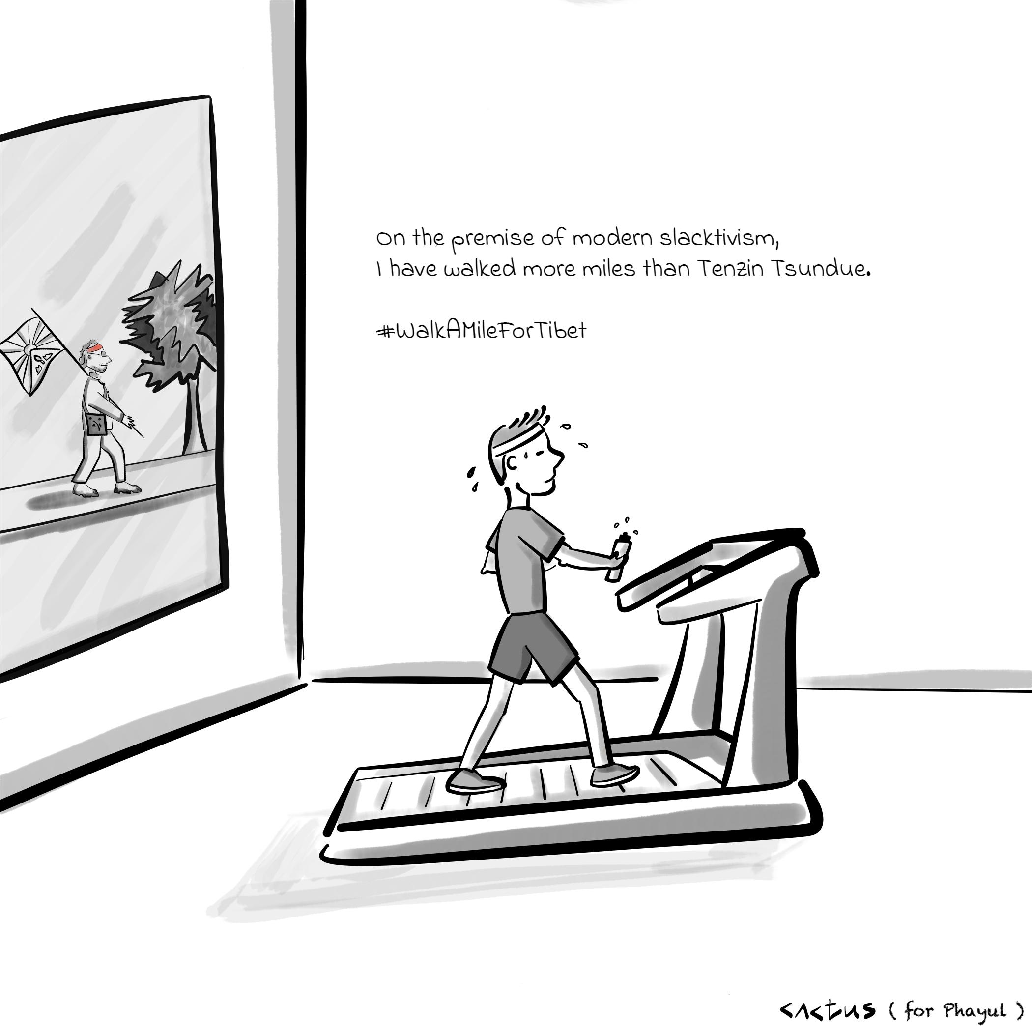Caricature - walk a mile